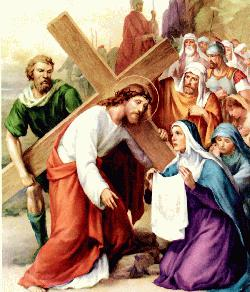 Stations of the cross - Way of the cross - Veronica wipes the face of Jesus