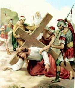 Stations of the cross - Way of the cross - Jesus falls the second time