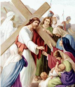 Stations of the cross - Way of the cross - Jesus comforts the women of Jerusalem