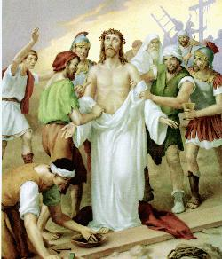 Stations of the cross - Way of the cross - Jesus is stripped of his garments